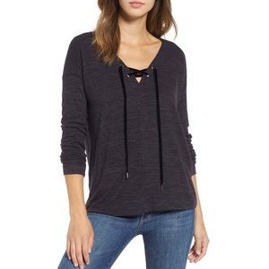 NWT Rails Leigh Lace Up Top